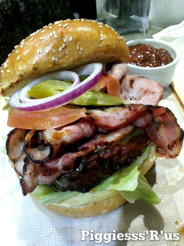 Premium Beef Burger with sauce